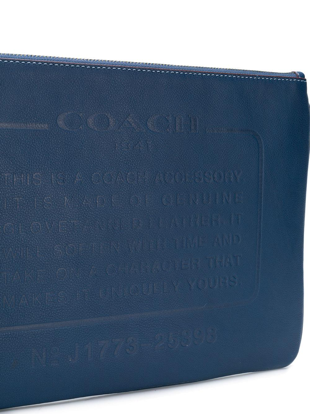 23427e4993 Lyst - COACH Storypatch Pouch Bag in Blue for Men