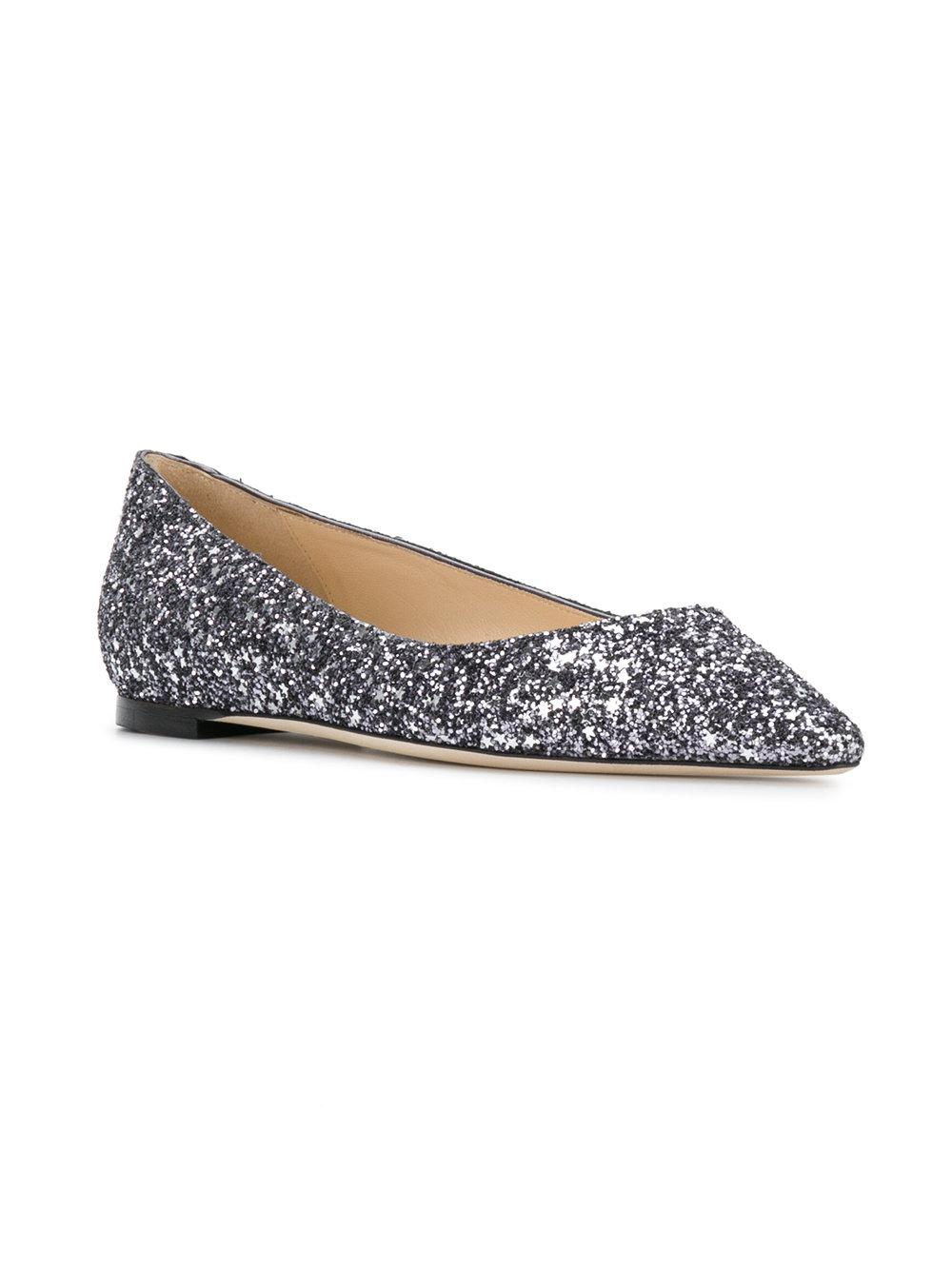 Exclusive to mytheresa.com - Romy Flat glitter ballerinas Jimmy Choo London 4nOU4id