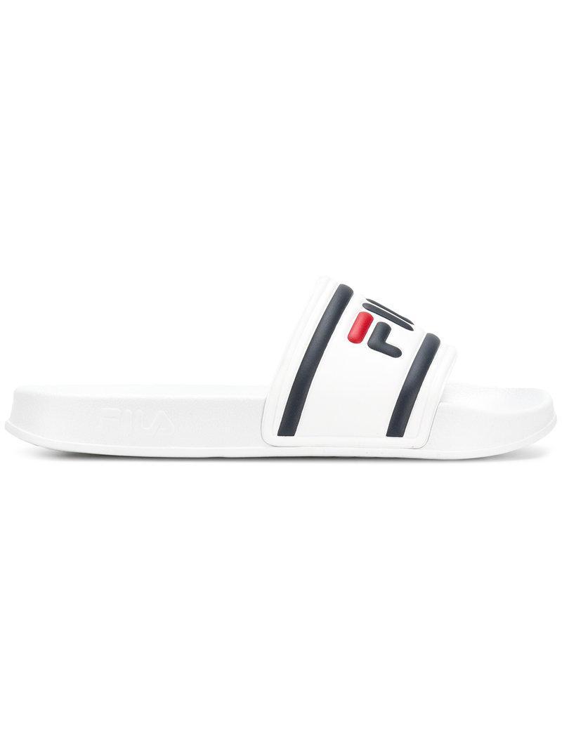 908f1a54c2e2 Lyst - Fila Logo Pool Sliders in White for Men