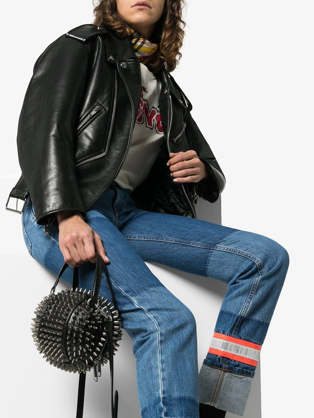 f2ab9460c9f2 Gucci Black Tifosa Metal Studded Mini Bag in Black - Lyst