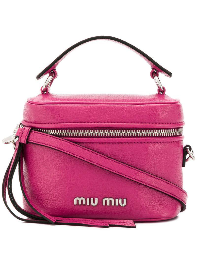 d7a5e98fa45 Miu Miu - Pink Camera Style Mini Bag - Lyst. View fullscreen
