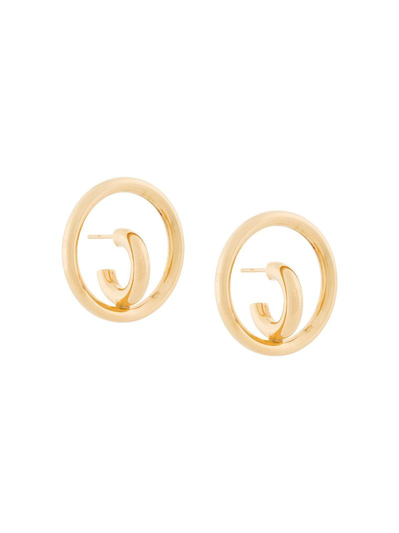 Charlotte Chesnais Saturn Blow L Mono Earring in Yellow Vermeil Jzt2WO3F