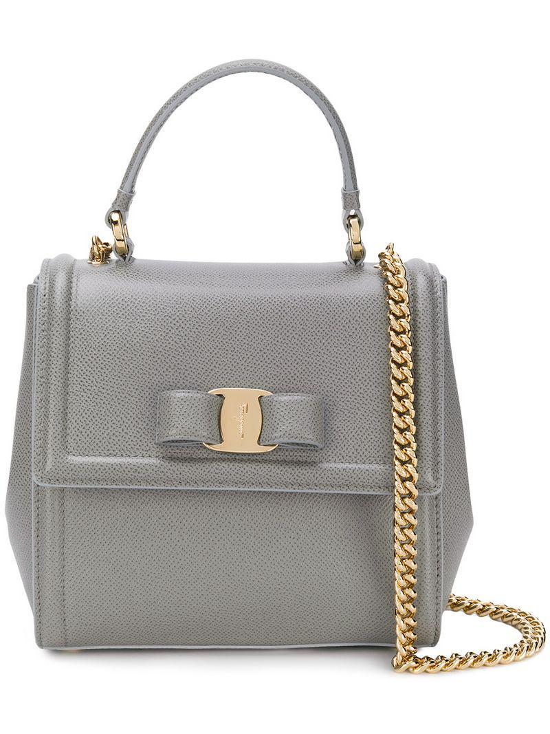 Lyst - Ferragamo Carrie Top Handle Bag in Gray 116caad21b2e2