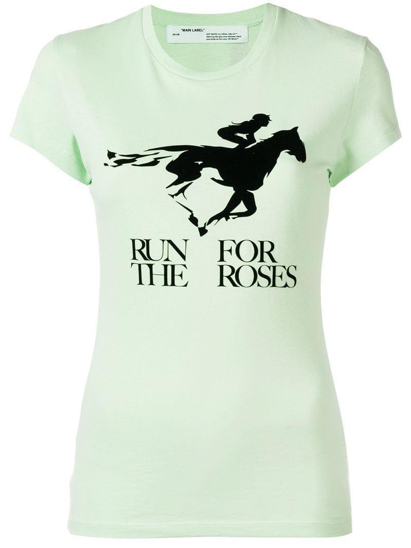 Off-White C/O Virgil Abloh Run For The Roses T-shirt in ...