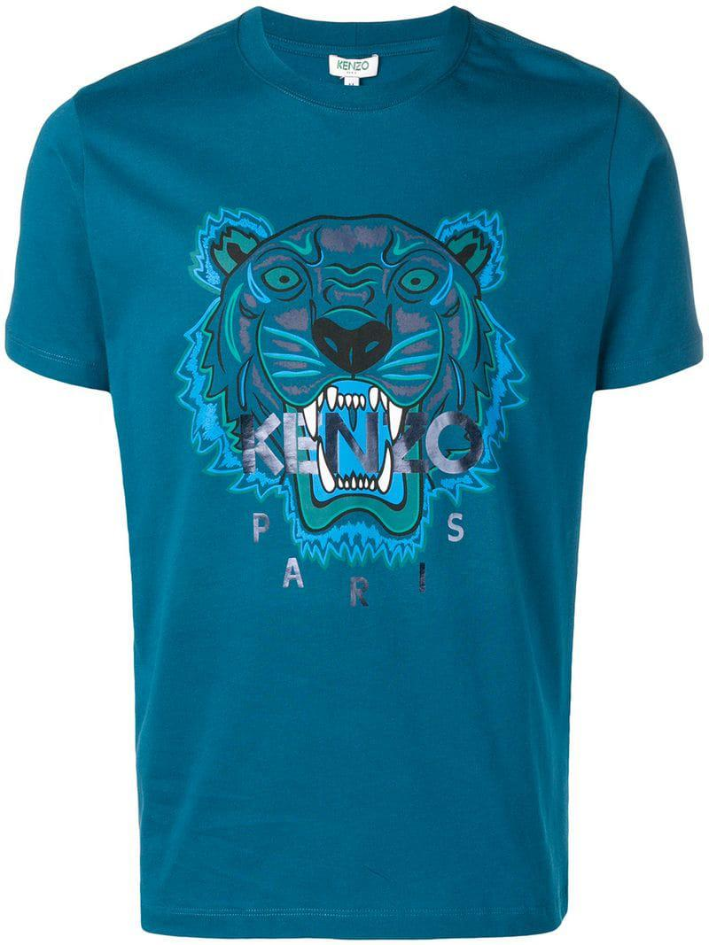 612b513ae KENZO - Blue Embroidered Tiger T-shirt for Men - Lyst. View fullscreen