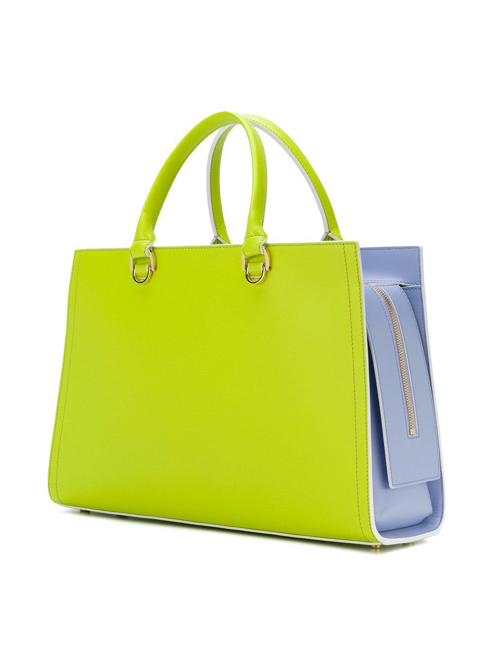 e61611fd543d Lyst - Sac cabas bicolore Emilio Pucci en coloris Vert
