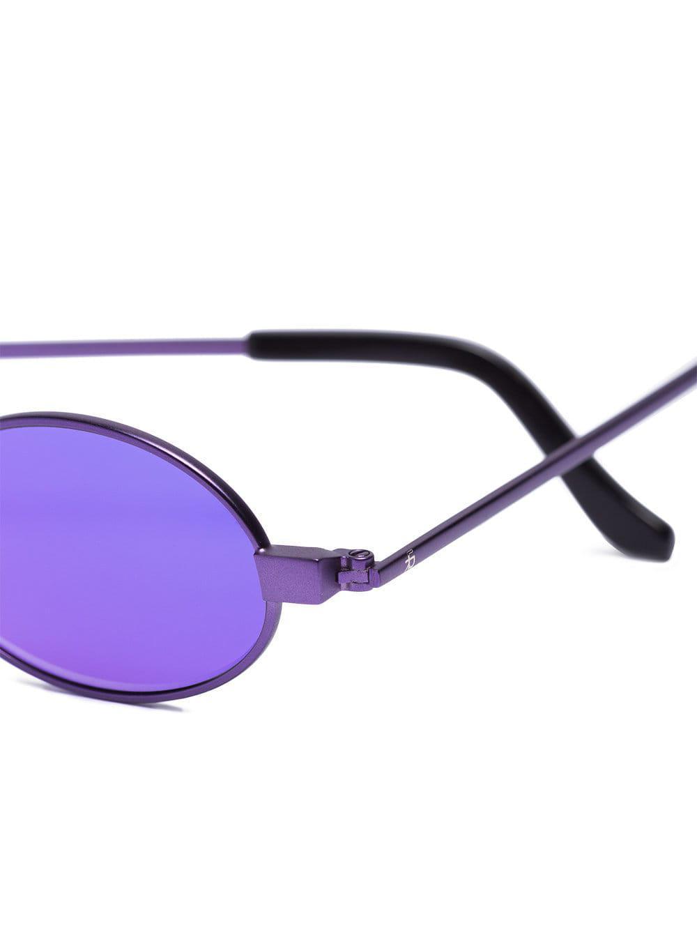 f2b1a3b40a16c ROBERI AND FRAUD - Purple Doris Oval Sunglasses - Lyst. View fullscreen