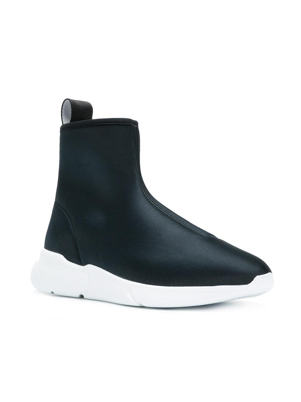 Moschino Chaussures De Sport De Chaussette Salut-top - Noir JhJrONbq