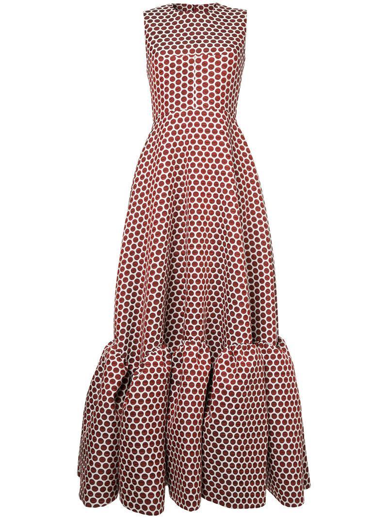 Jodie polka-dot sleeveless gown Huishan Zhang vcA8A