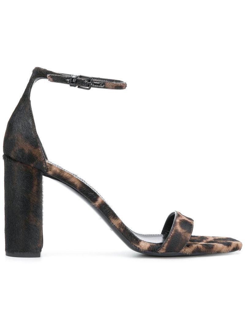 Lou Lou leopard sandals - Brown Saint Laurent WiNwHc