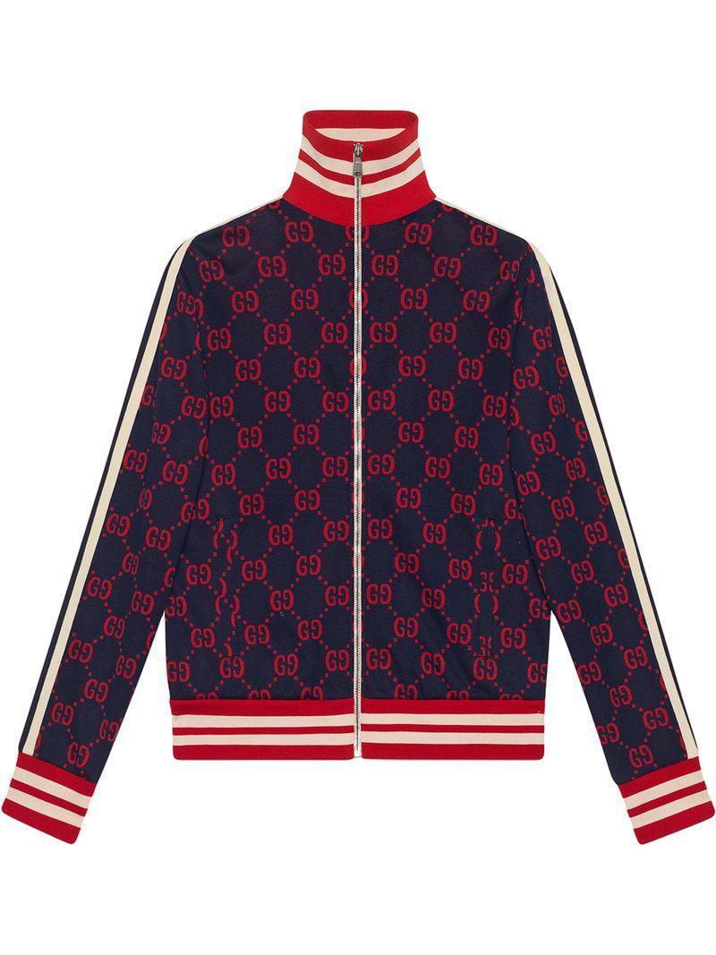 ba362be19c2 Lyst - Veste en coton jacquard GG Gucci pour homme en coloris Bleu