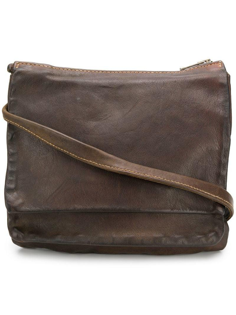 fd0cb5033b Guidi Large Pocket Bag in Brown - Lyst