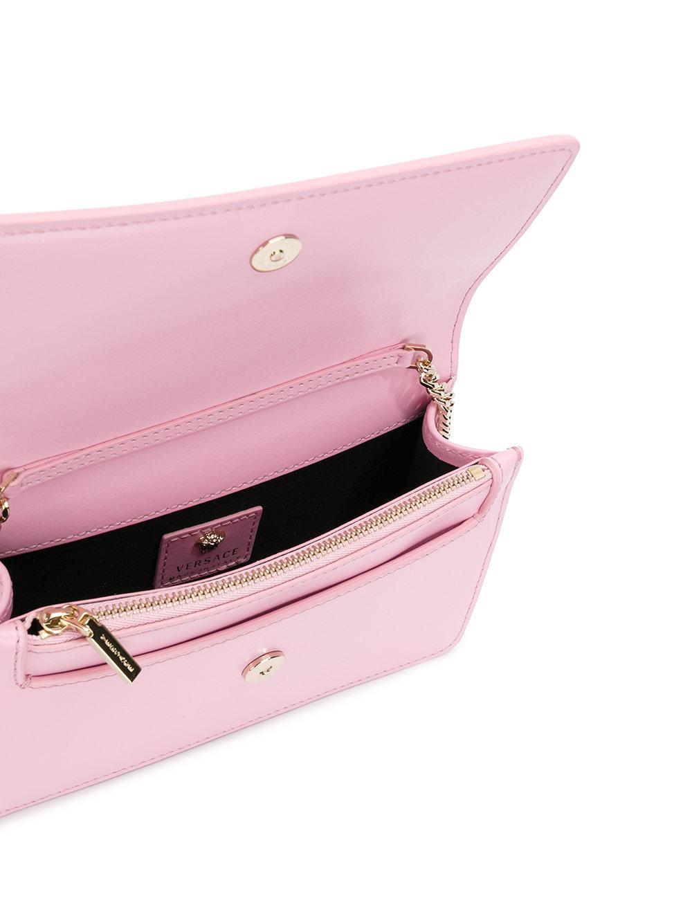 80a8e222146e Lyst - Versace Palazzo Medusa Crossbody Bag in Pink