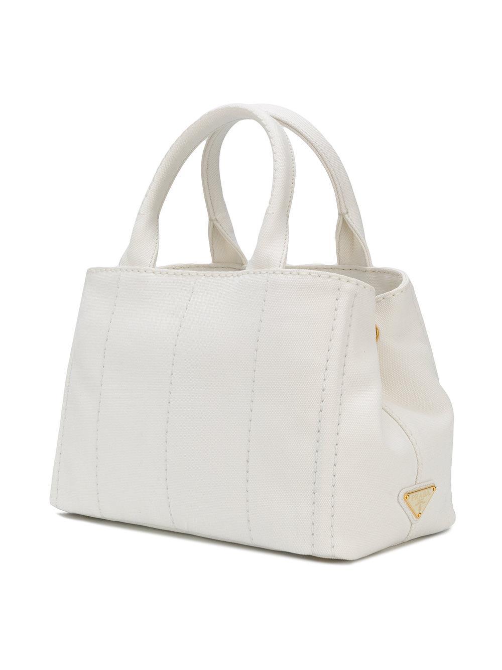 b6b1952ff84b Prada Giardiniera Tote Bag in White - Lyst