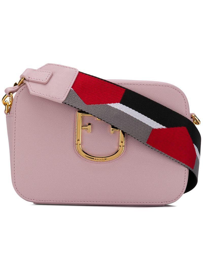 ed2774329082 Lyst - Furla Rainbow Strap Crossbody Bag in Pink