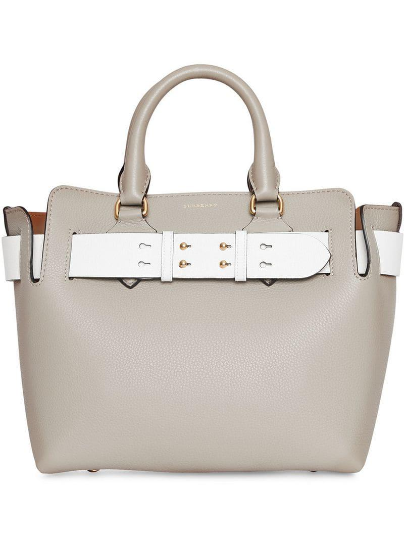 c60083c9a652 Burberry The Small Tri-tone Leather Belt Bag in Gray - Lyst