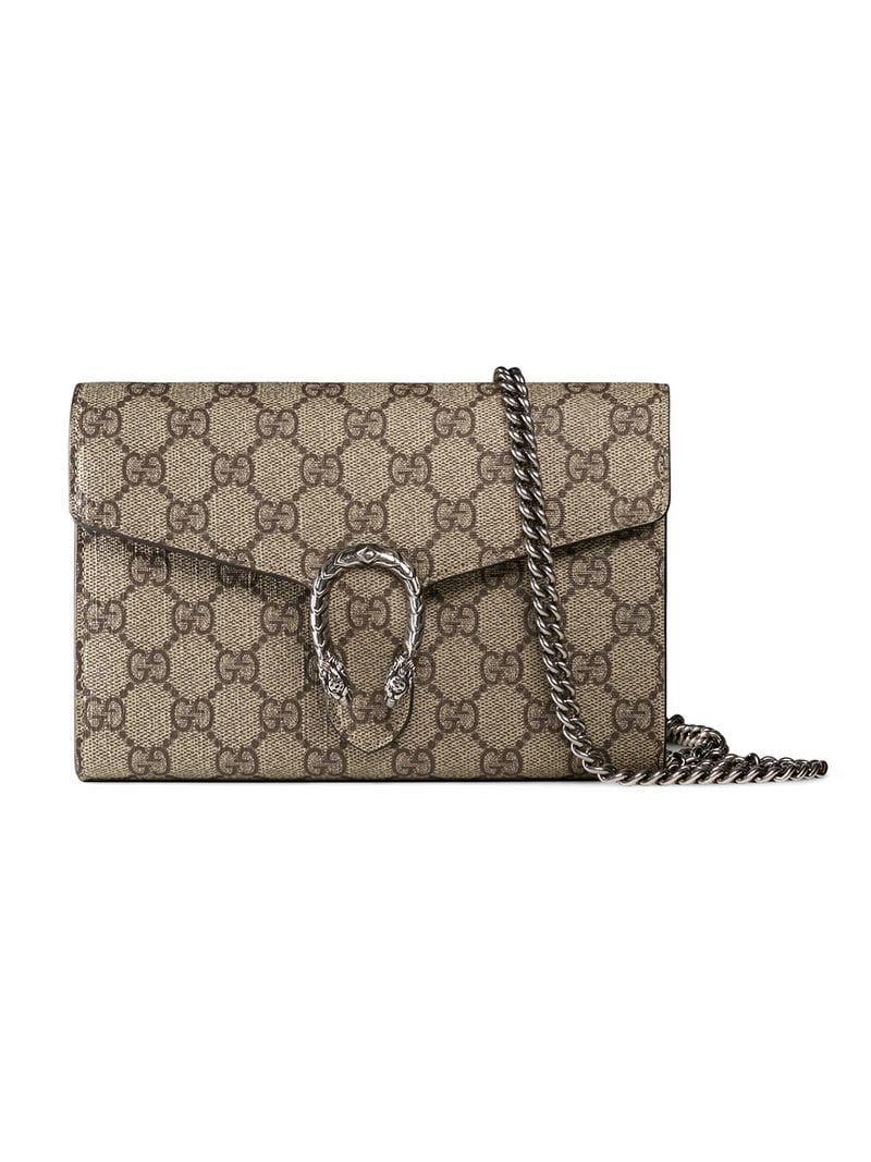 ba8a36e48f5 Gucci Dionysus GG Supreme Chain Shoulder Bag - Lyst
