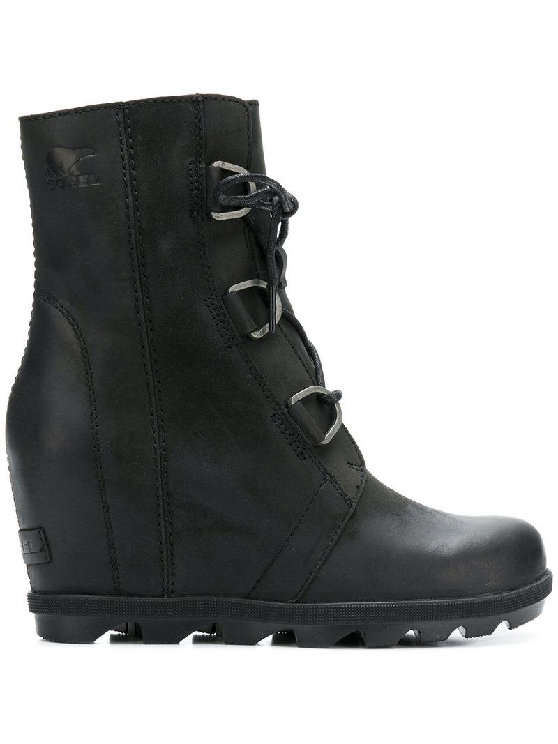 d400ed7a39cc Lyst - Sorel Ankle Lace-up Boots in Black