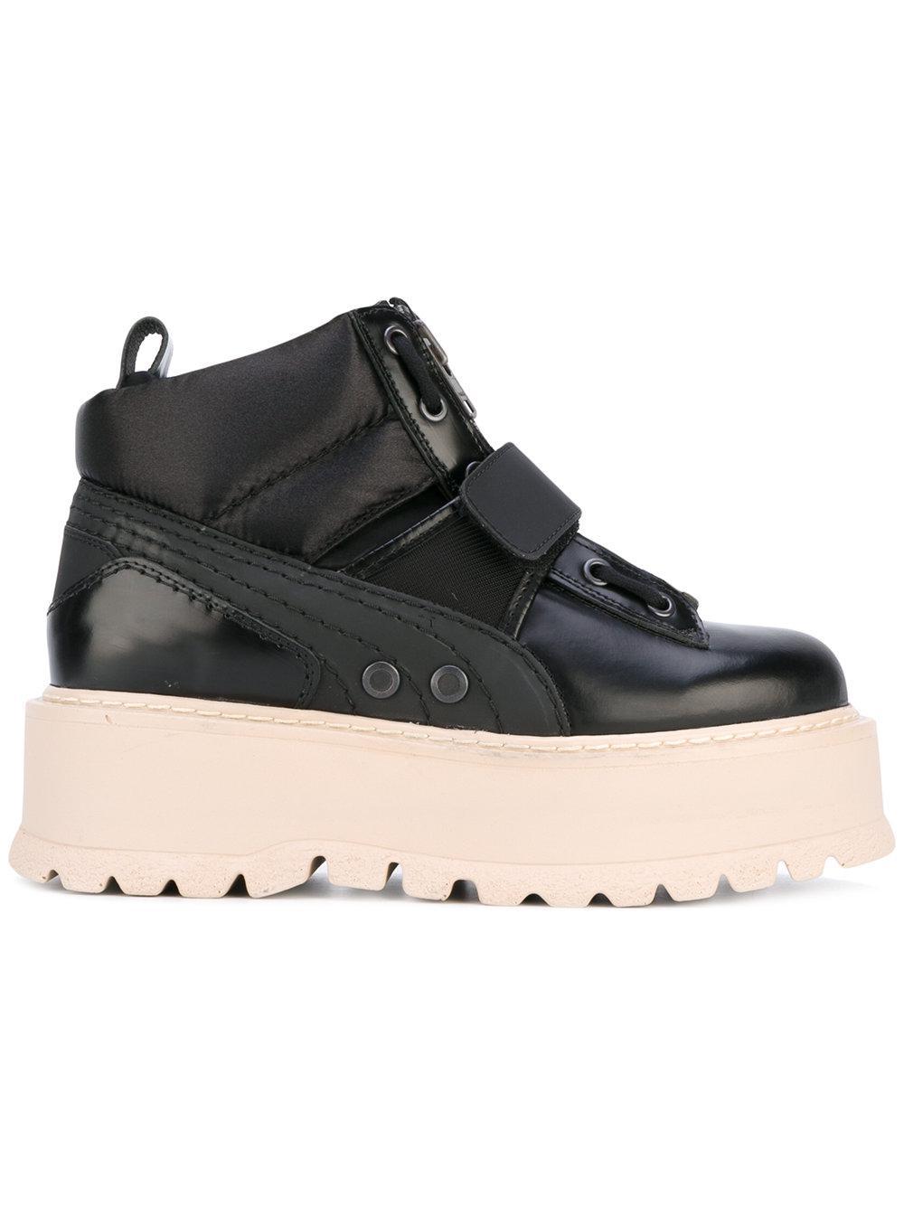 Lyst - Puma Fenty Sneaker Boots in Black 1060be2da