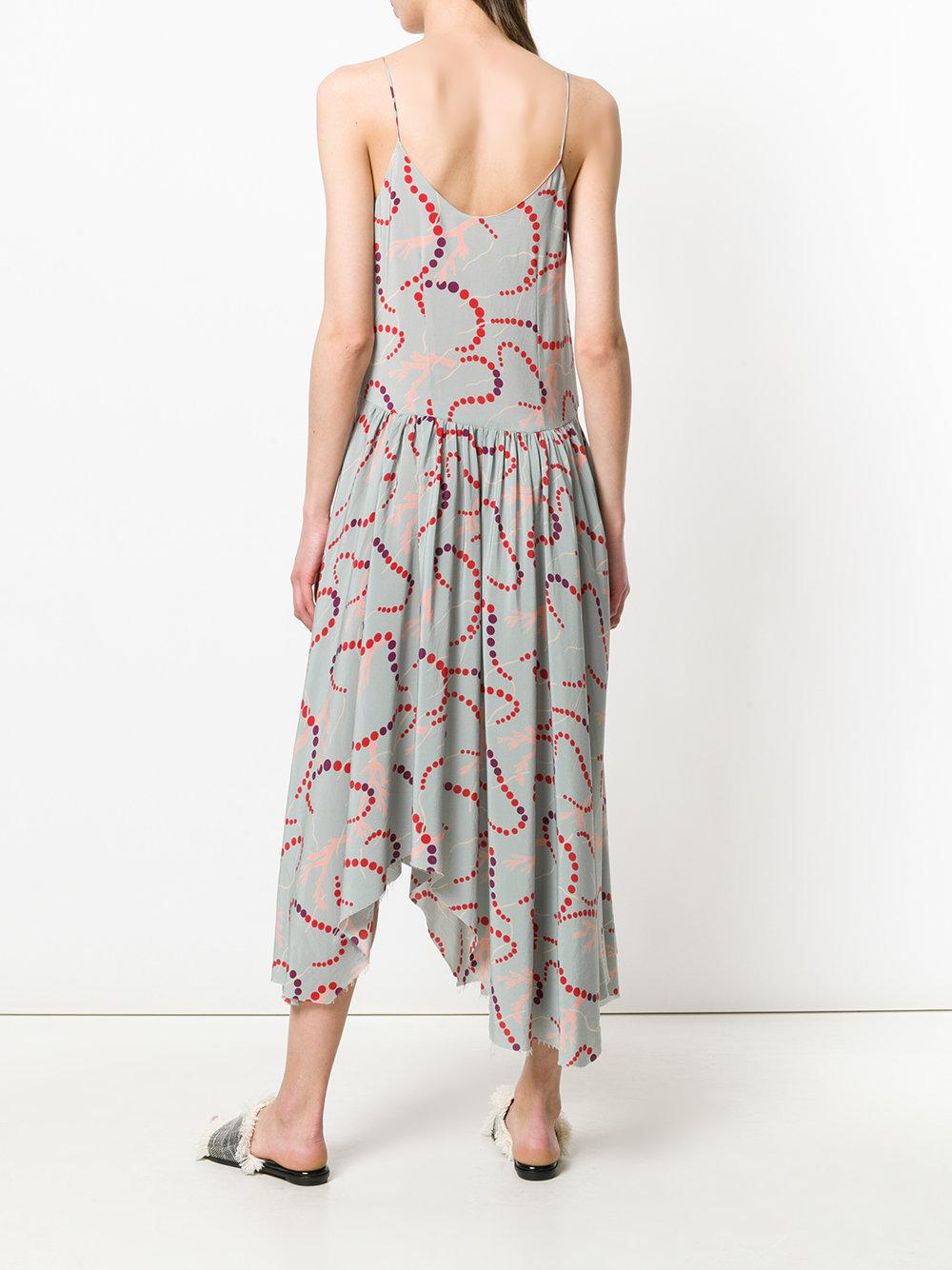 print asymmetric slip dress - Blue Erika Cavallini Semi Couture Authentic Cheap Online Clearance Outlet Locations 0PrjEVyPy