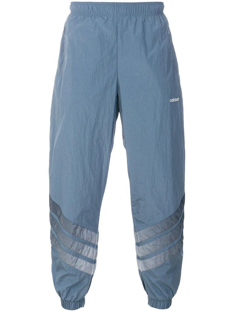 Adidas V Stripes pista pantalones en azul para los hombres Lyst