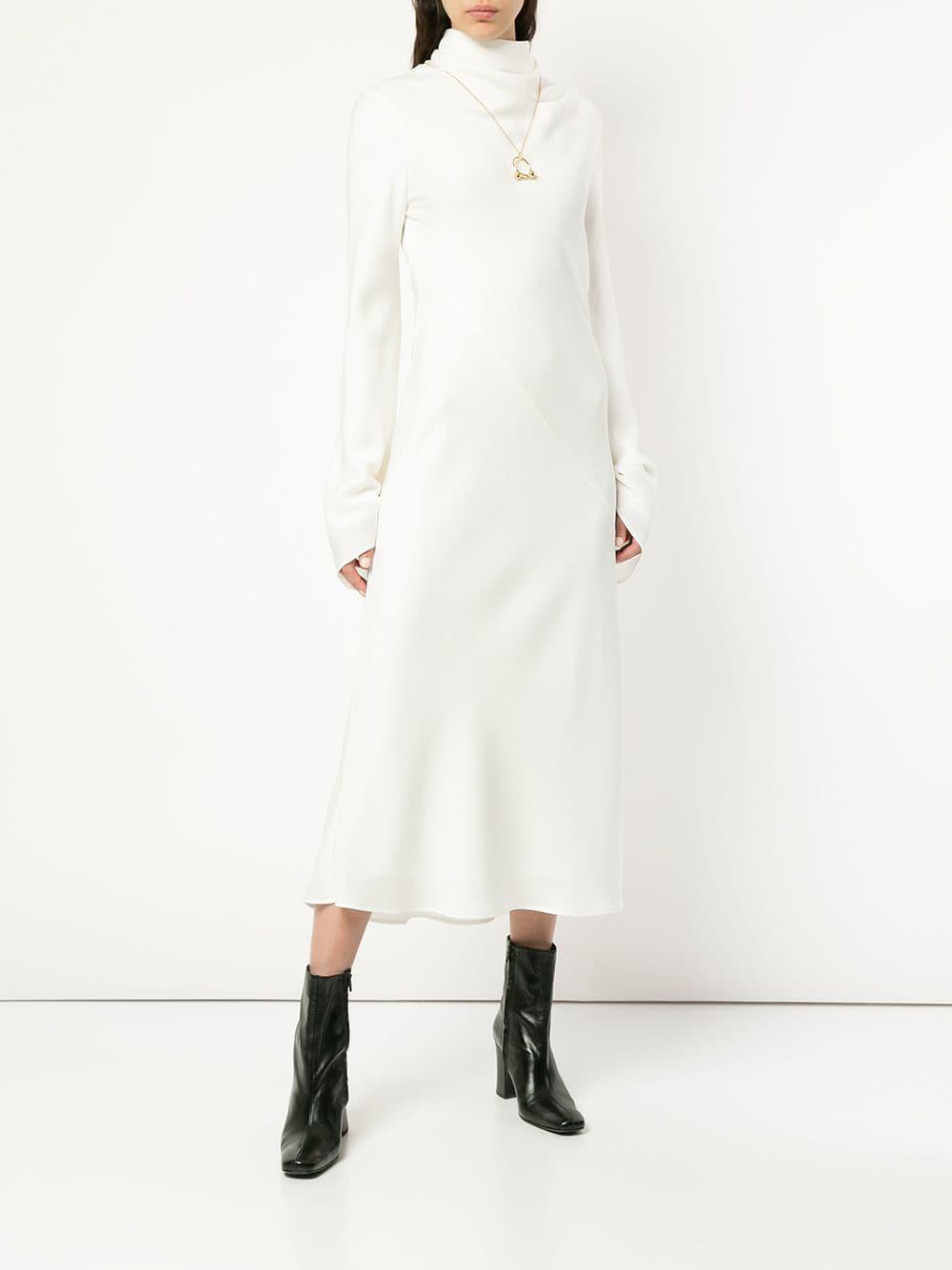 Ellery White Gotham Long Dress Lyst View Fullscreen