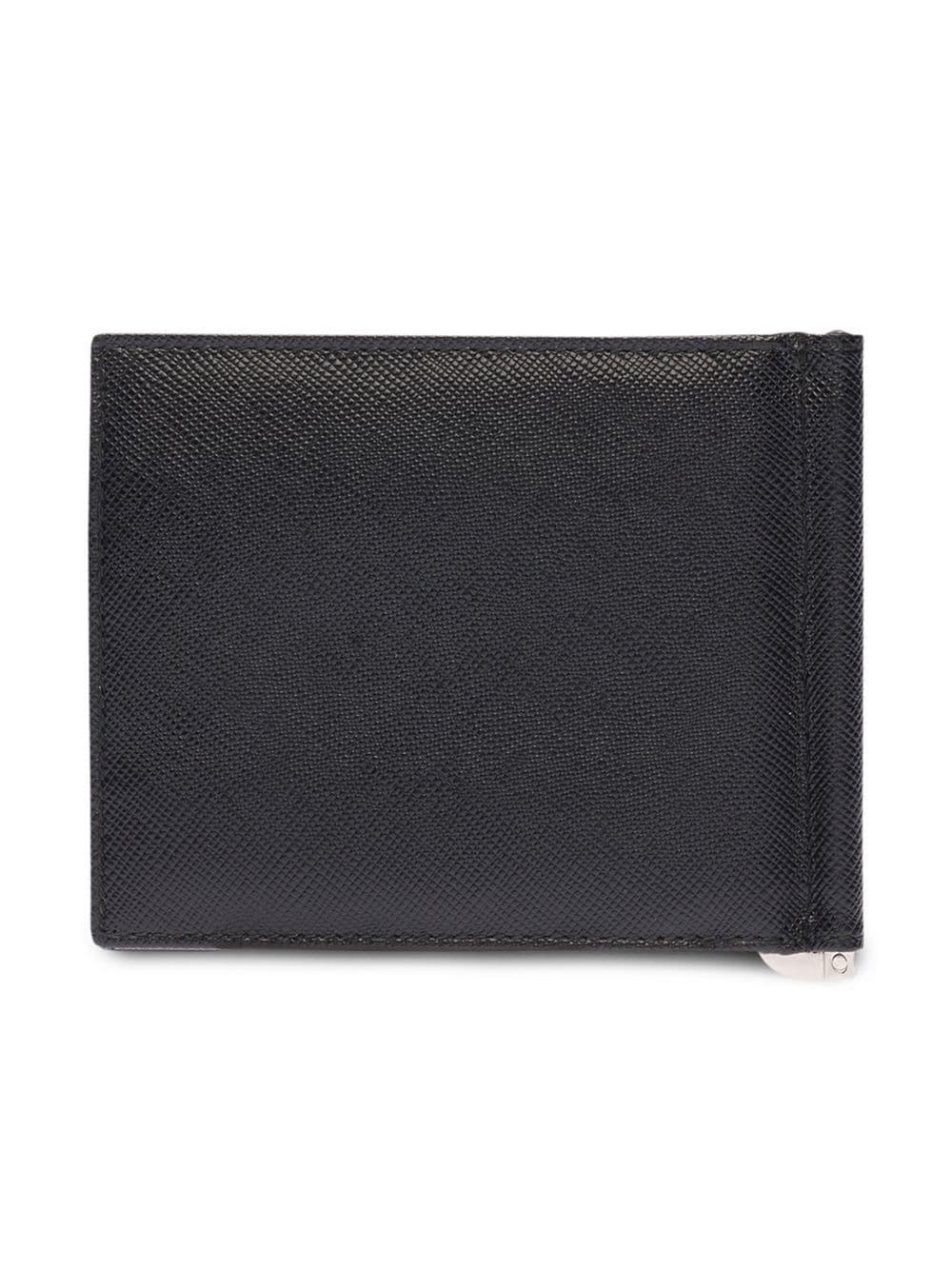5884ee1214a4 ... 50% off prada black bifold wallet for men lyst. view fullscreen 46657  e6e70