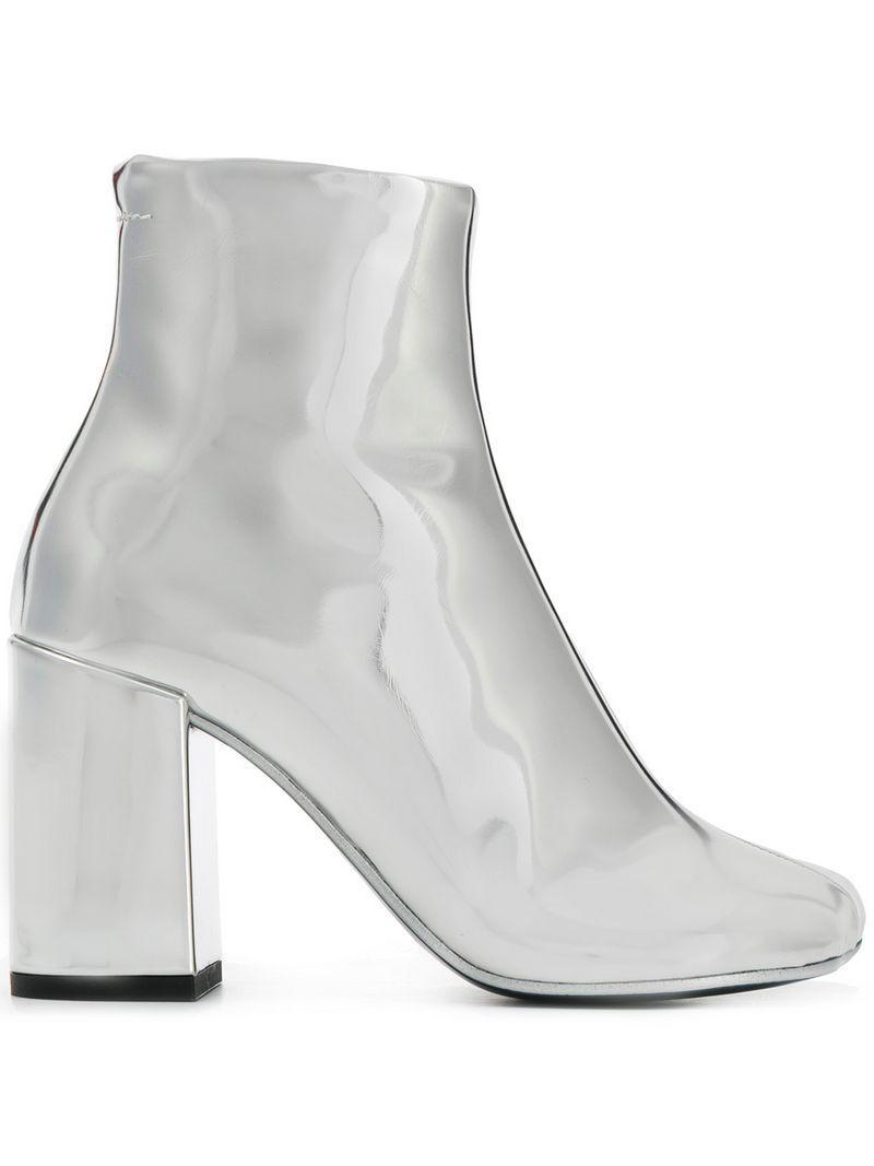 reputable site 4b11b abeff mm6-by-maison-martin-margiela-Metallic-Metallic-Ankle-Boots.jpeg