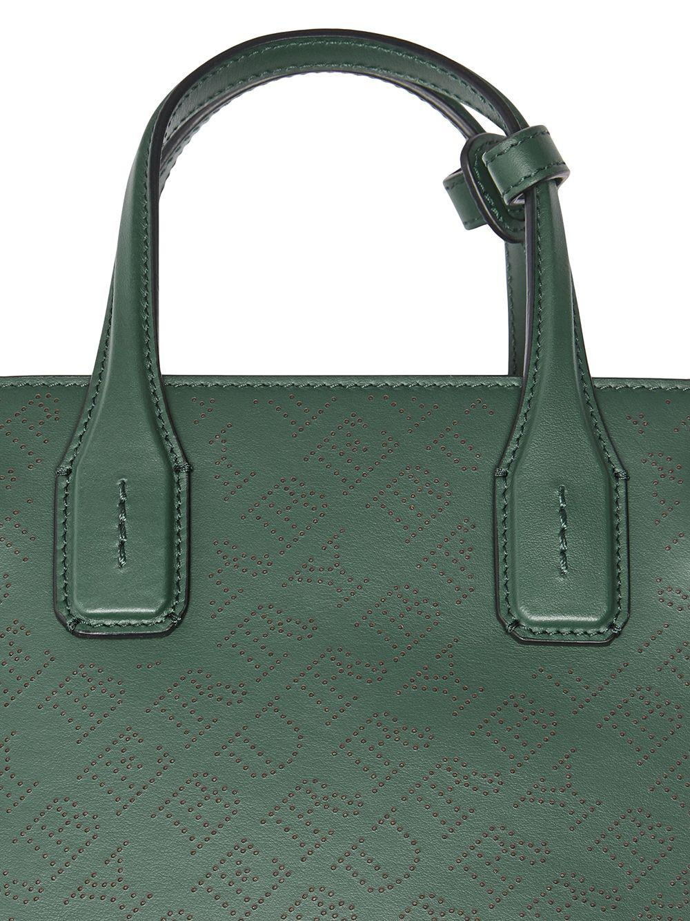 d5a6a8331116 Burberry The Small Banner In Perforated Logo Leather in Green - Lyst