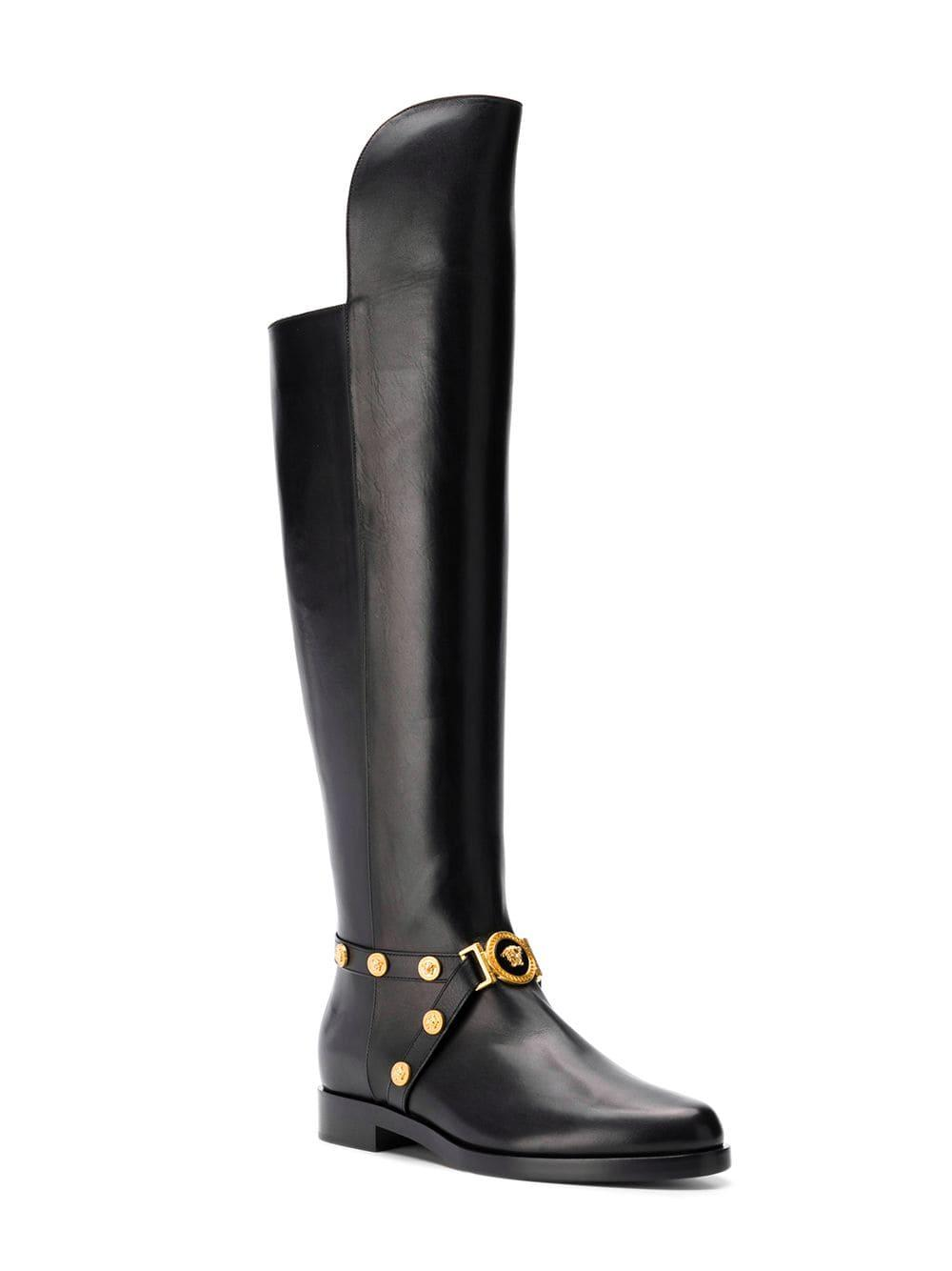 5a8adfeae43 Lyst - Versace Tribute Knee-high Boots in Black