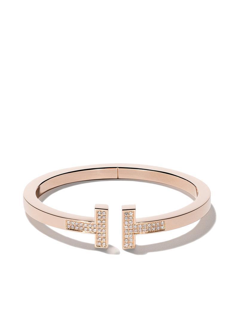 18kt white gold Tiffany T square diamond cuff - Metallic Tiffany & Co. XmAfjDEl