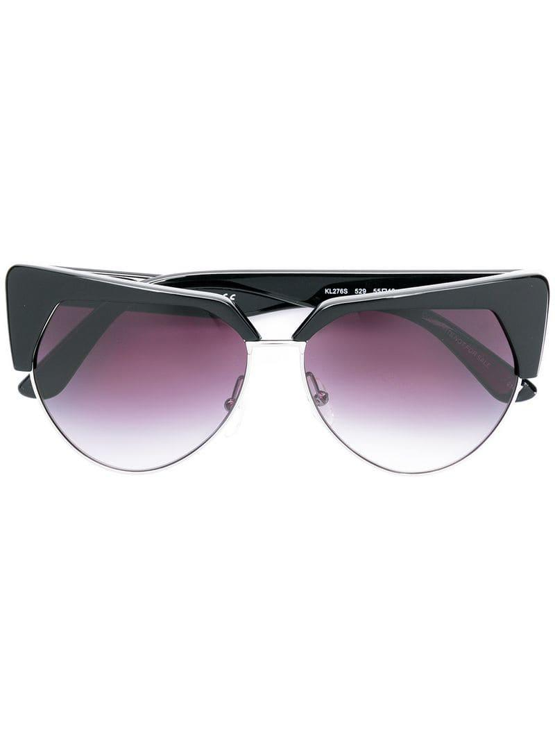 cde05c266c7 Karl Lagerfeld Kreative Cat Eye Sunglasses in Black - Lyst