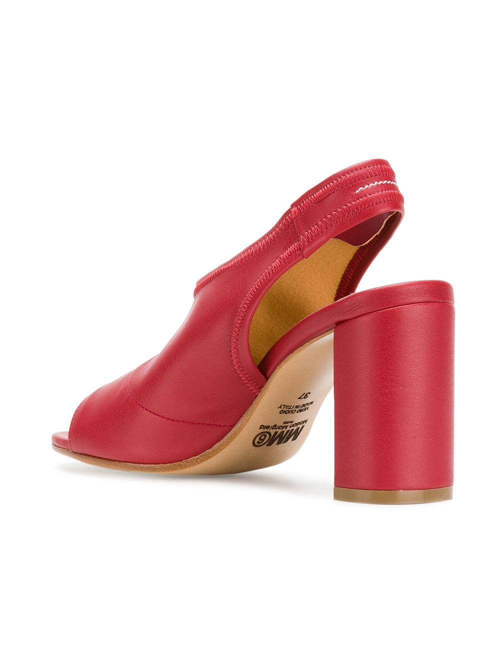 Mm6 Maison Margiela peep toe slingback sandals free shipping footaction TduMmyMVGO