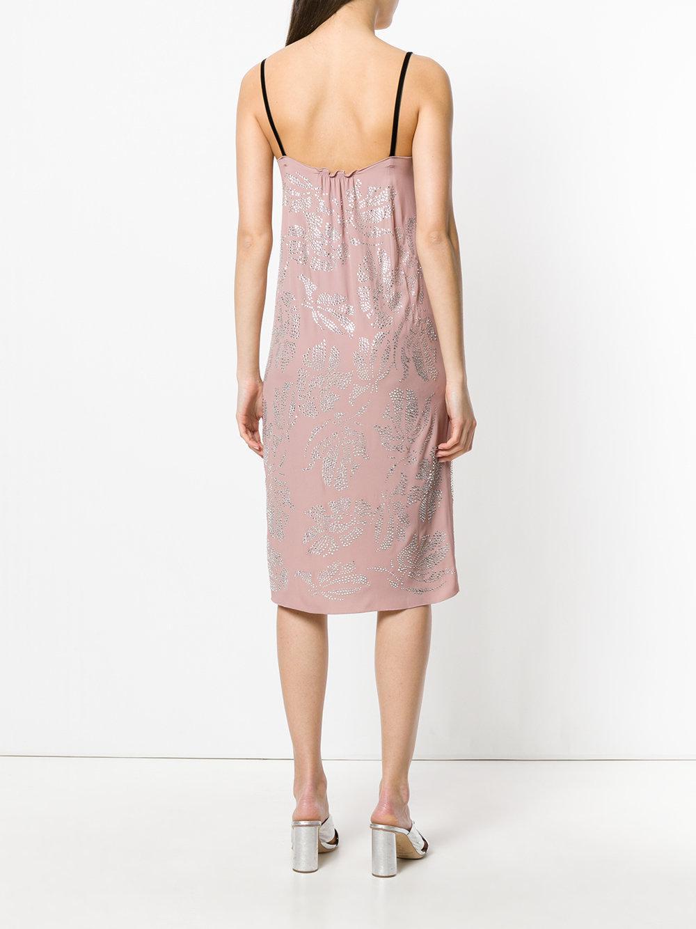 bead embellished slip dress - Pink & Purple N hk5d2aqOD