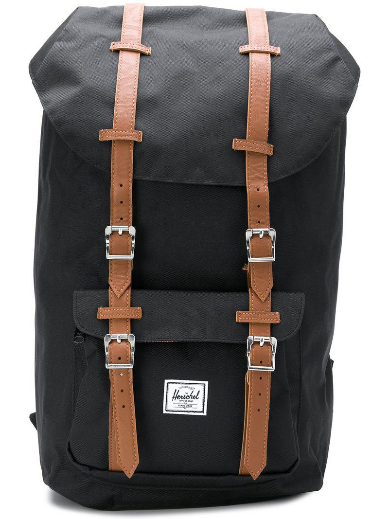 Lyst - Herschel Supply Co. Little America Backpack in Black for Men ... 9a2f440556