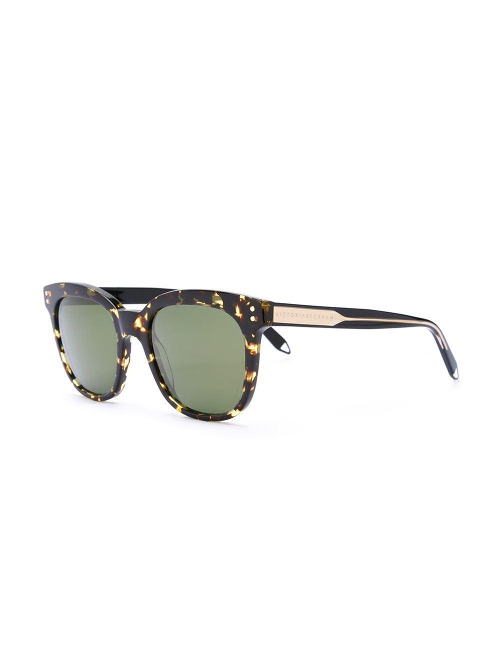 b40664020e Victoria Beckham  the Vb  Sunglasses in Brown - Lyst
