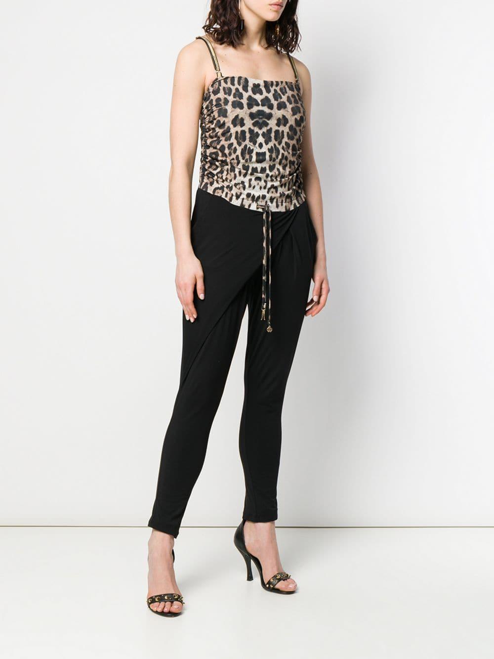 d32cb4a027 Roberto Cavalli - Black Leopard-print Jumpsuit - Lyst. View fullscreen