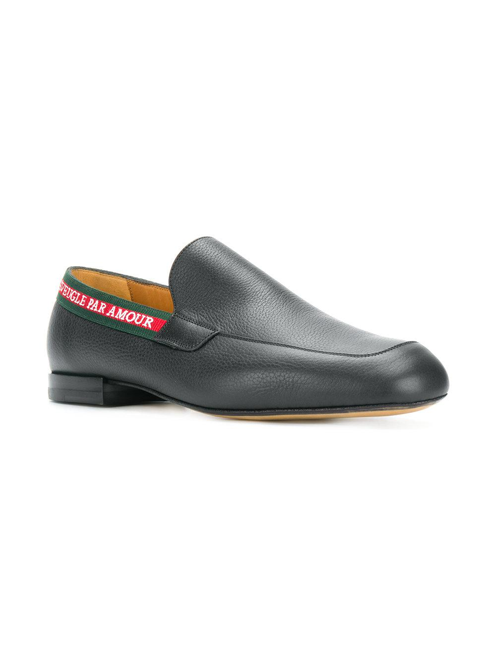 046abcbbb2f Lyst - Gucci L aveugle Par Amour Loafers in Black for Men - Save 62%