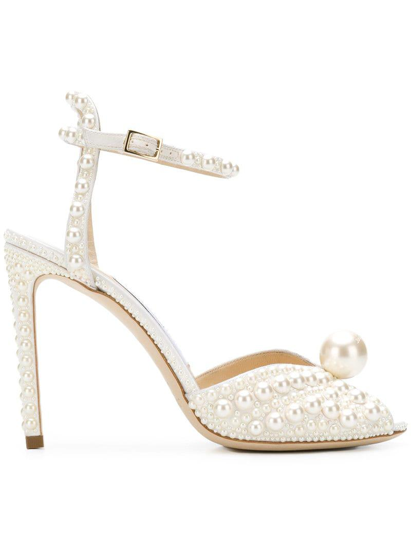 056a814d44df Jimmy Choo Sacora 100 Sandals in White - Save 15% - Lyst