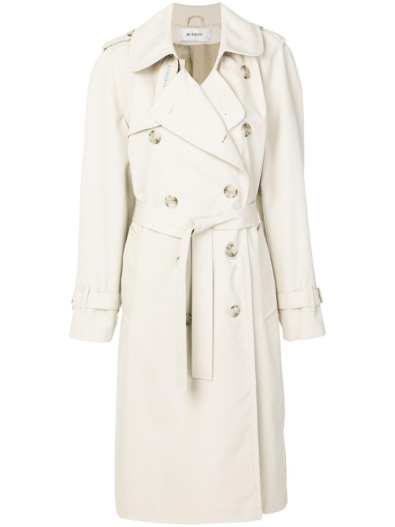 Misbhv double-breasted trench coat 2018 New Sale Online Recommend Low Cost Cheap Online mVBBseg
