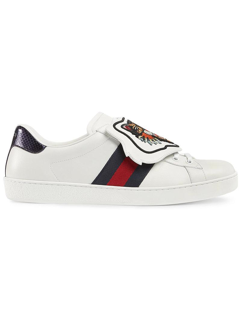 21a7c9ac528 Lyst - Gucci Ace Sneaker With Removable Embroideries in White for Men