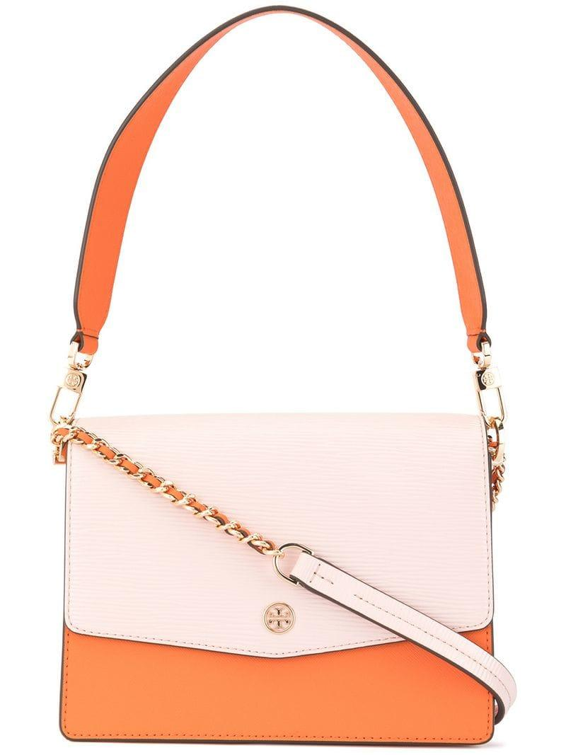 fb71198c50c3 Tory Burch Robinson Convertible Shoulder Bag in Orange - Lyst