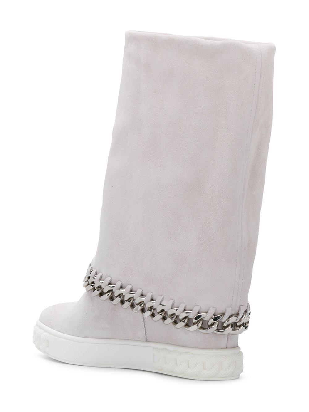 Casadei Chaucer chain embellished boots S5qsMOn5D