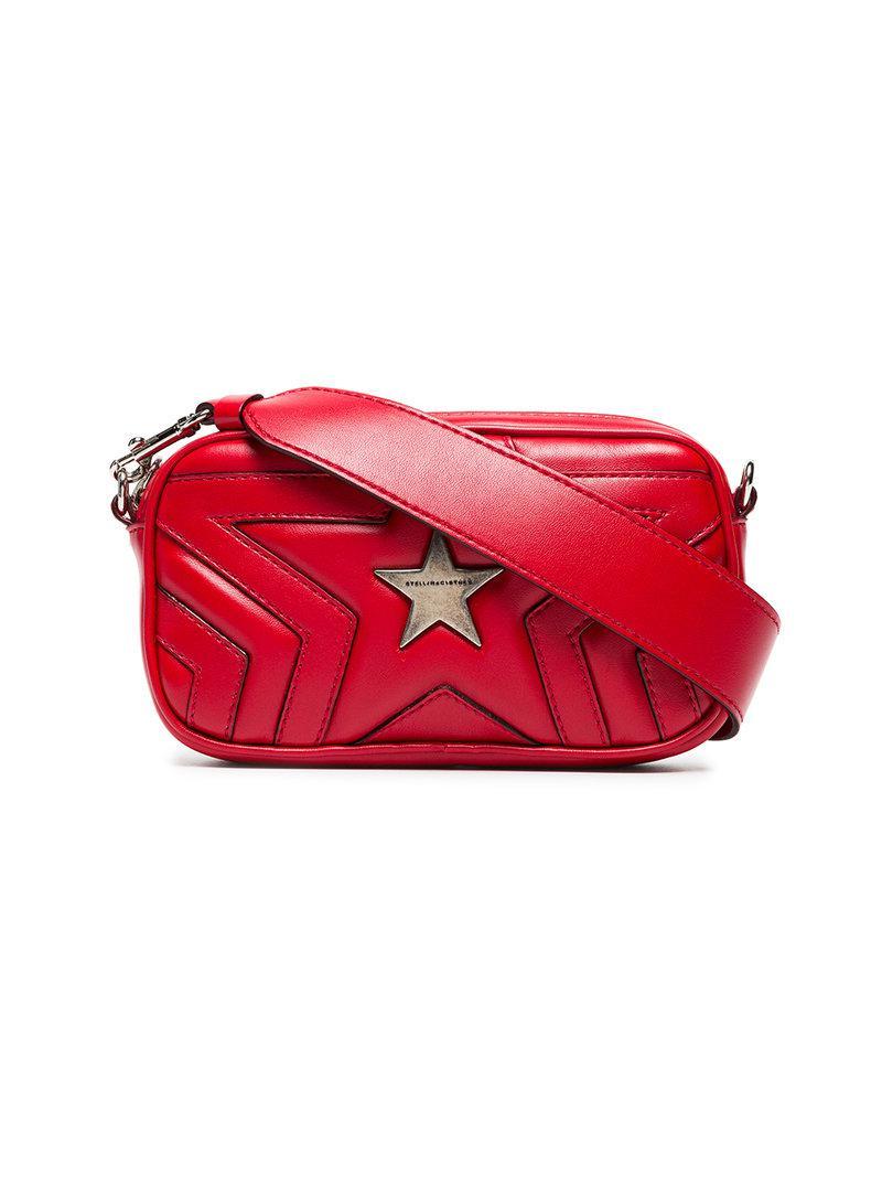 229c97a18e Lyst - Sac à bandoulière à étoiles Stella McCartney en coloris Rouge