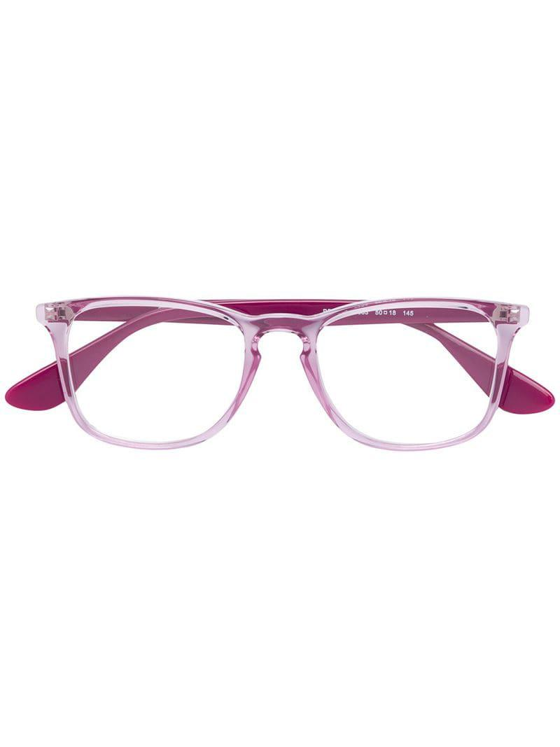 7916d7b630 Ray-Ban Square Acetate Glasses in Pink - Lyst