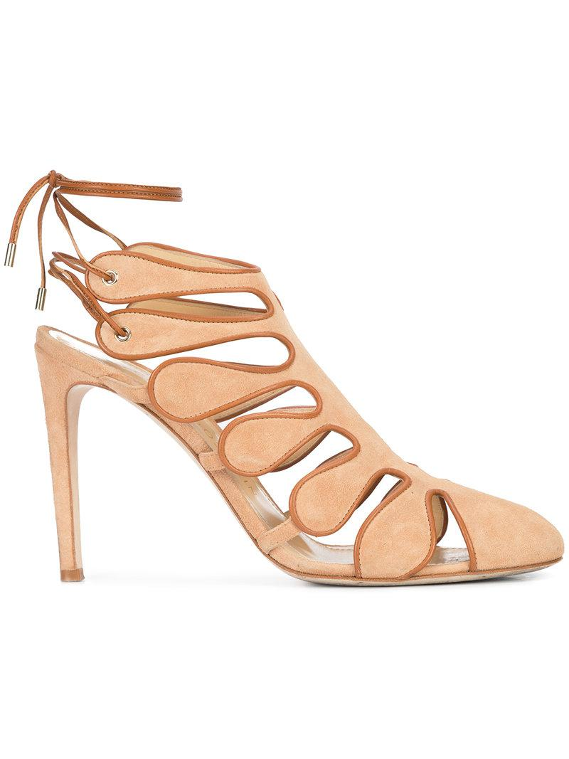 cut out ankle strap sandals - Nude & Neutrals Chloe Gosselin