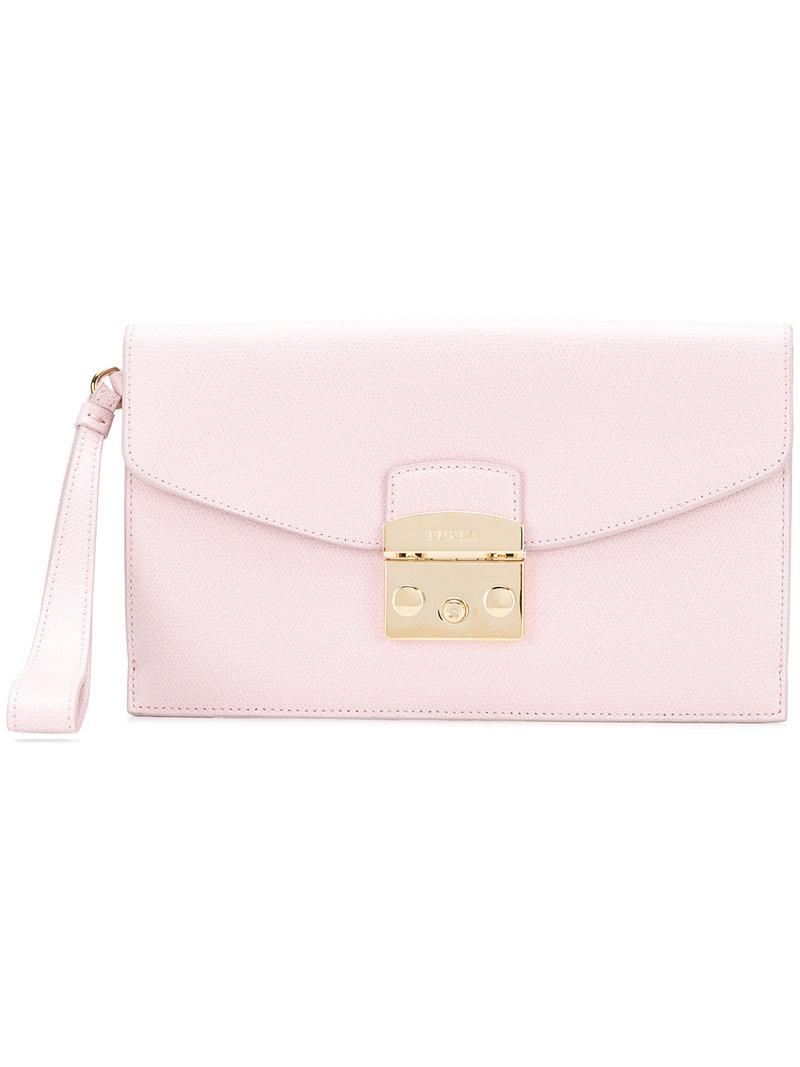 Metropolis envelope clutch - Pink & Purple Furla Discount Limited Edition Discount Authentic Online Pictures Online zEfsQY0