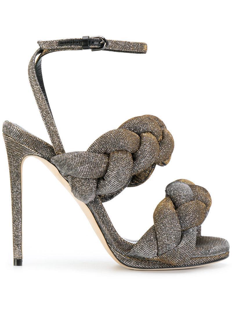 pleated strappy sandals - Metallic Marco De Vincenzo 7q7wnd