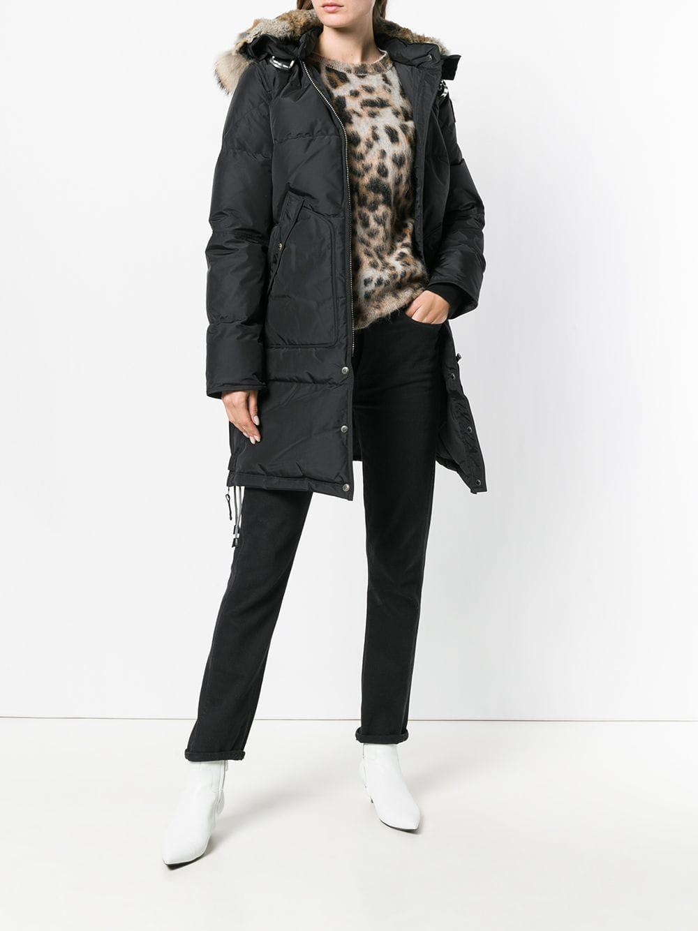 Parajumpers - Black Long Bear Coat - Lyst. View fullscreen