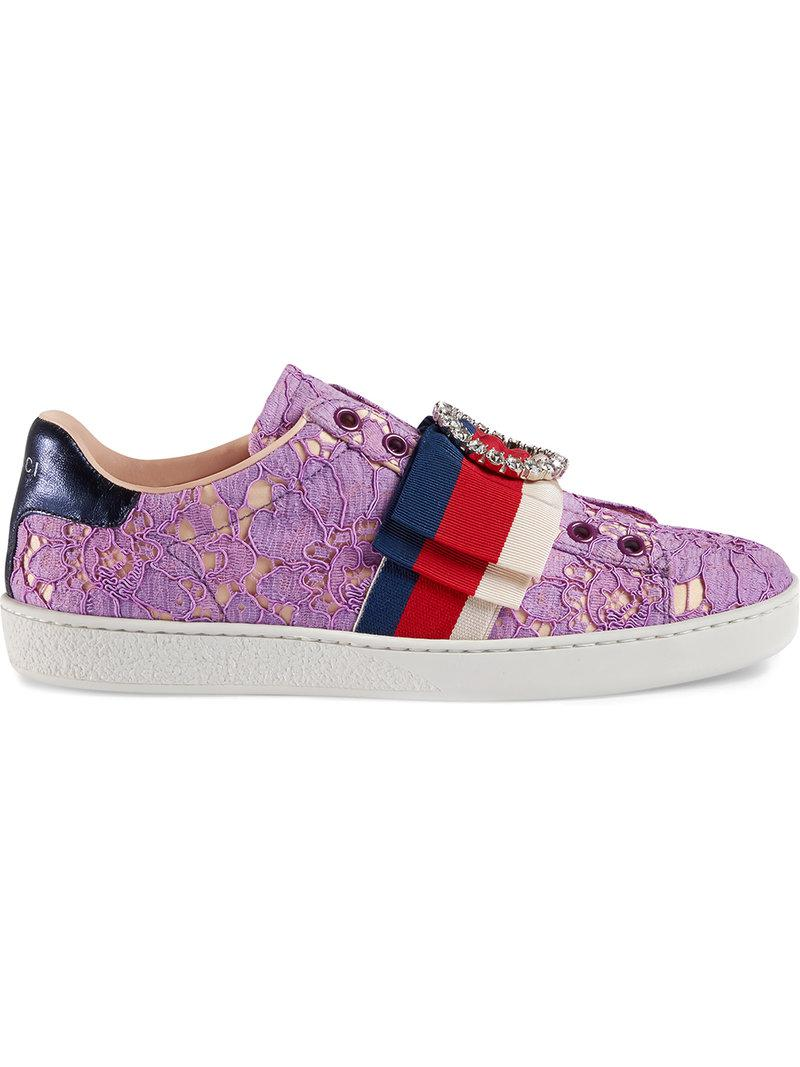 Ace lace sneakers - Pink & Purple Gucci BFPCcw